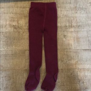 6-12 Month Gymboree Ribbed Purple Tights